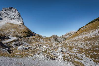 Single trail in the Karwendel mountains